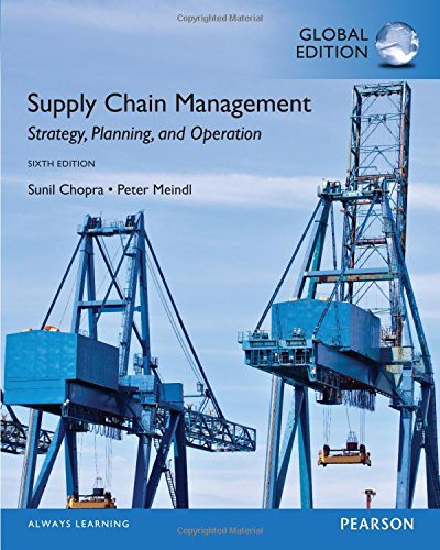Supply Chain Management: Global Edition: Strategy, Planning, and Operation