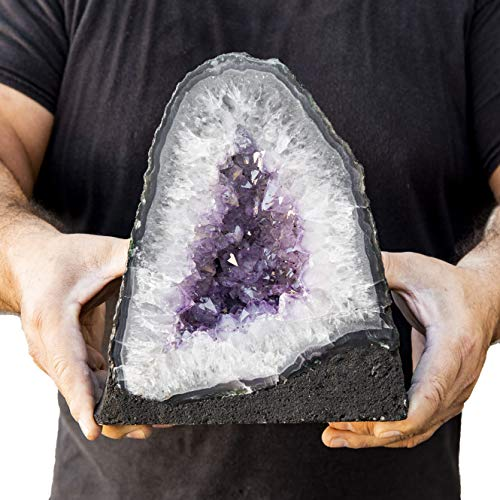 Beverly Oaks Large Amethyst Crystal Cathedral ~ Raw Amethyst Stone Geode ~ 11.96 lb Amazing Amethyst Cluster (AC-46F)