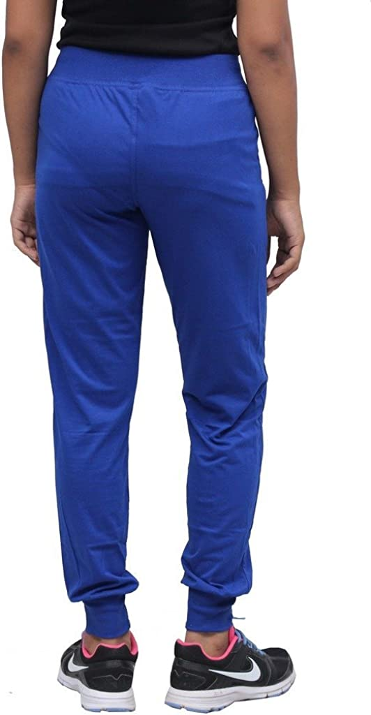 romwomflori442royalbluetrack/_XXL, XX-Large, Blue Romano Women Blue Cotton Track Pant
