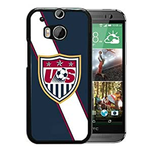 USA Soccer 4 Black Case with Unique and Attractive Design for Beautiful HTC ONE M8