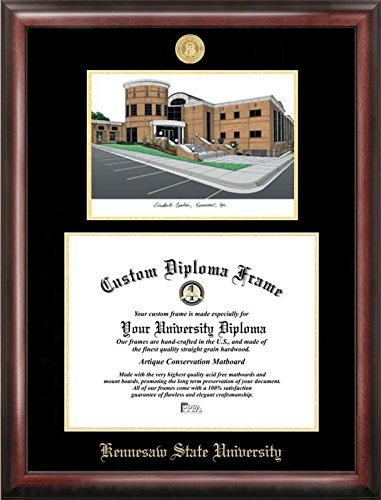 Campus Images GA986LGED Kennesaw State University Embossed Diploma Frame with Lithograph Print, 11
