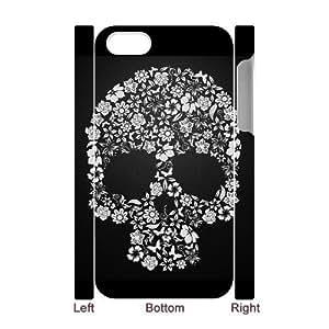 3D Bumper Plastic Case Of Skull customized case For Iphone 4/4s wangjiang maoyi