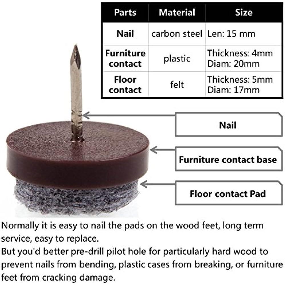 Felt Pads For Wood Furniture Legs Nail In Chair Feet