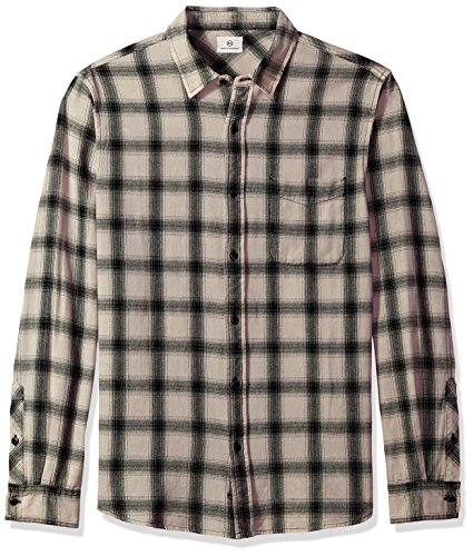 AG Adriano Goldschmied Mens Colton Long Sleeve Washed Plaid Button Down