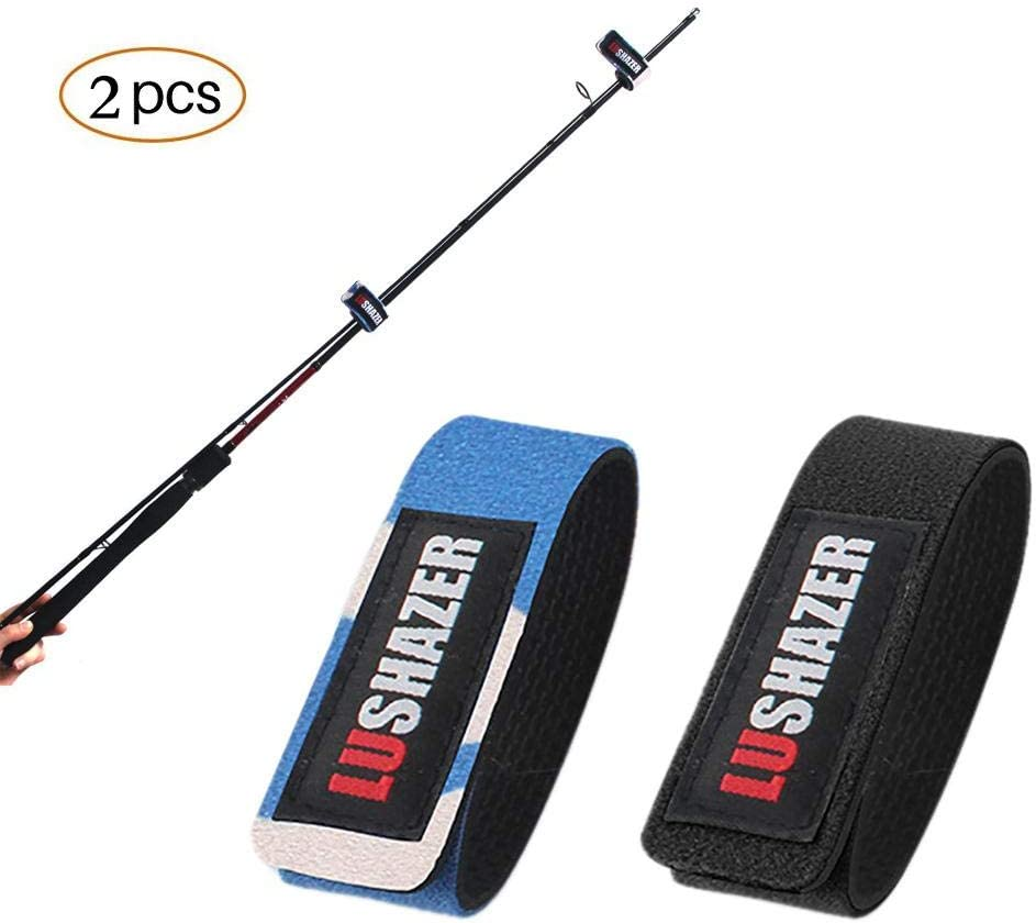 2pcs Elastic Fishing Rod Tackle Strap Bag Belt Wrapping Band Pole Storage