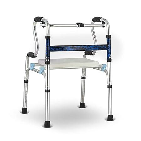 MyAou-Andadores Silla Walker Frame Cane Silla de Entrenamiento de ...