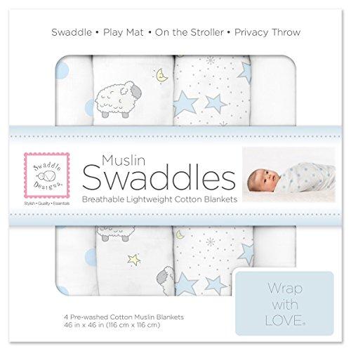 SwaddleDesigns Muslin Swaddle Blankets Twinkle