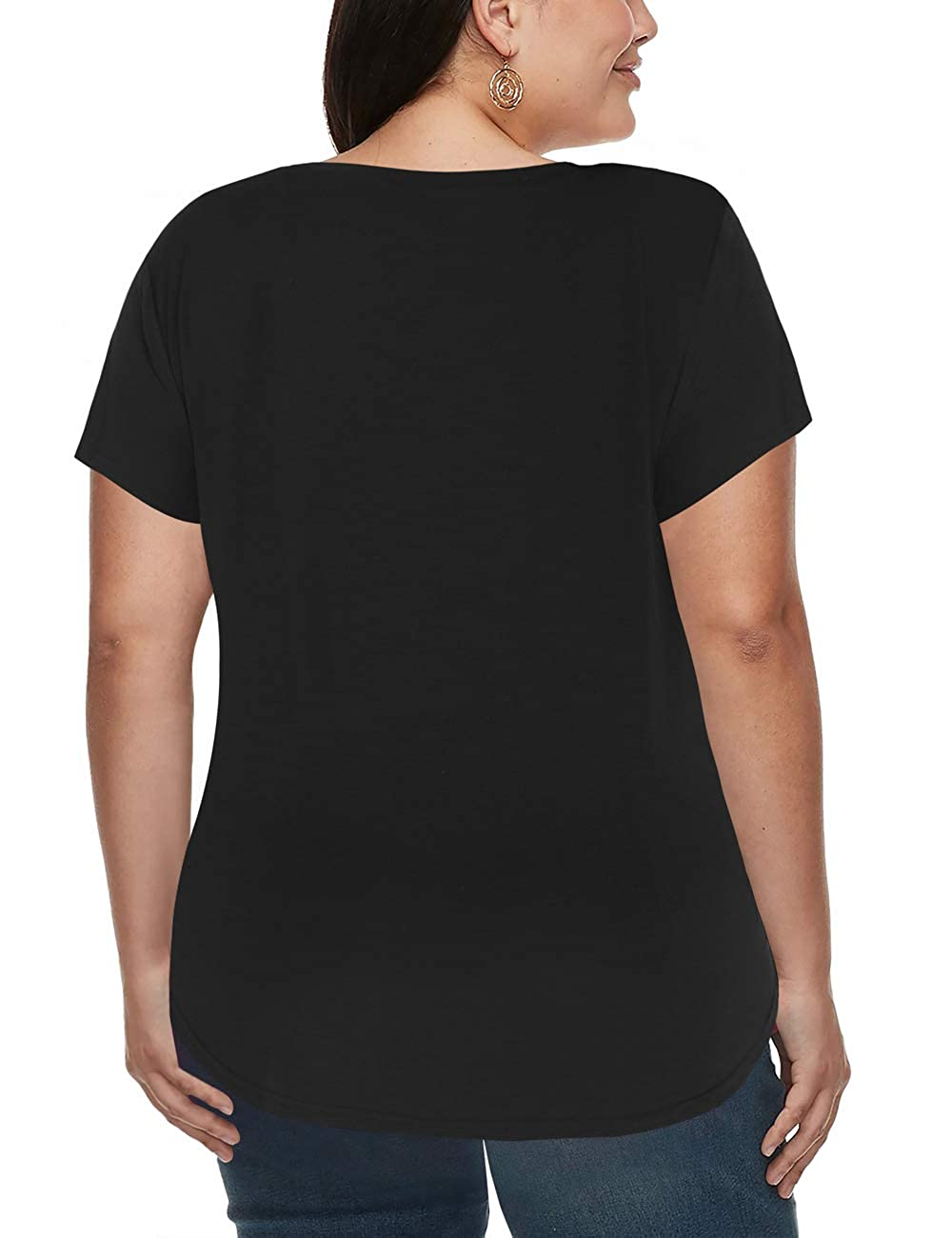 1eea88a69903a liher Women s Plus Size Tops Casual V Neck Short Sleeve Summer T Shirts  1X-5X at Amazon Women s Clothing store