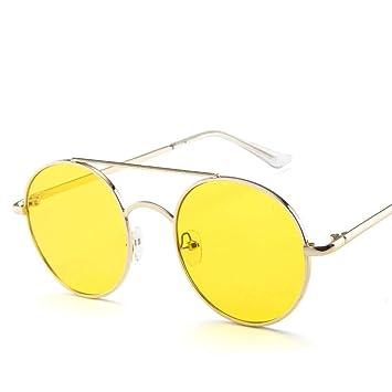 TYJYTM Gafas de Sol Redondas de Las Mujeres de la aleación ...