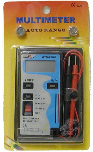 Winmax WIN8968 Pocket-size Auto-ranging Digital Multimeter With Full Features, Cap,Freq.Voltage,Current & More