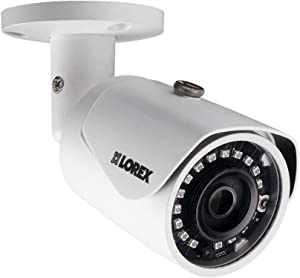 Lorex E581CB Series 5MP Indoor/Outdoor Day & Night Super HD IP Security Bullet Camera with 2.8mm F2.0 Fixed Lens, 2592x1944, IP67 Weatherproof, Color Night Vision - 1 Pack