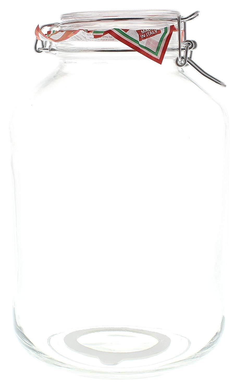 Bote de vidrio 5L con cierre hermético