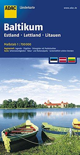 ADAC Länderkarte Baltikum, Estland, Lettland, Littauen. 1:700.000 (ADAC Länderkarten) Landkarte – 8. Juni 2017 Collectif 3826410599 Europa Karten / Stadtpläne / Europa