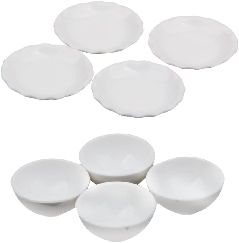 FLAMEER 8pcs 1//12 Mini Bol Vaisselle Meubles Cuisine pour Maison Poup/ées Meubles Accessoires