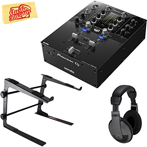 - Pioneer DJM-S3 2-Channel Mixer for Serato DJ Bundle with Stand, Headphones, and Austin Bazaar Polishing Cloth