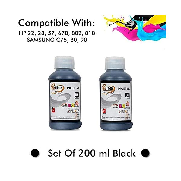 ProDot IP-HQ05-PK Inkjet Printer Refill Ink for HP 21/27/56/678/802/818 and Samsung M75/80/90 (Black, Pack of 2)
