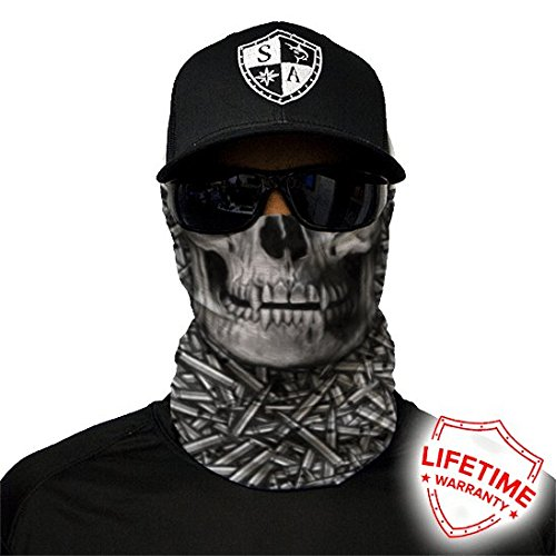 [SA CO Official HOLLOW HEAD Face Shield, Perfect for All Outdoor Activities, Protects Face Against the Elements] (Hollow Face)