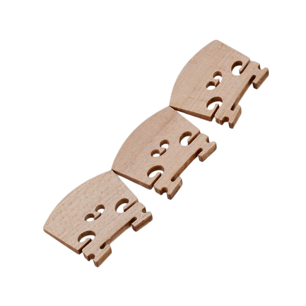 Yibuy 1/8 Size Wooden Primary Color Bridge for Violin Parts Music Instrument Replacement Set of 3 Yibuy10