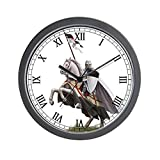 Best Knight Alarm Clocks - CafePress - Templar On Rearing Horse - Unique Review