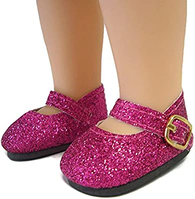 """Pink Mary Jane Shoes 14/""""  Doll Clothes Fits American Girl Wellie Wishers"""