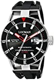 Locman Italy Men's 051300KRBKNKSIK Montecristo Professional Divers Automatic Analog Display Automatic Self Wind Black Watch