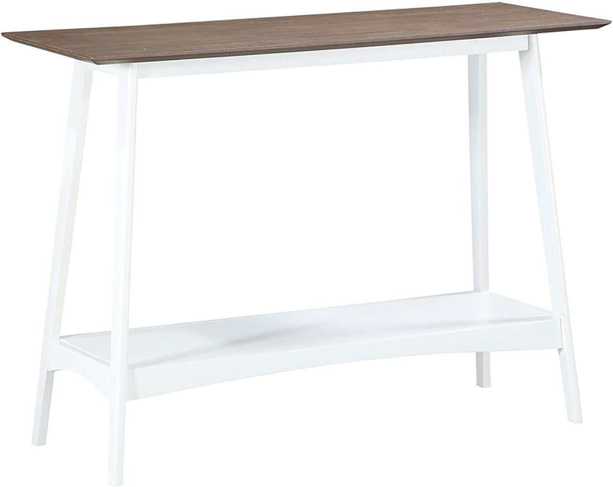 Convenience Concepts Alpine Console Table, Driftwood Top / White Frame