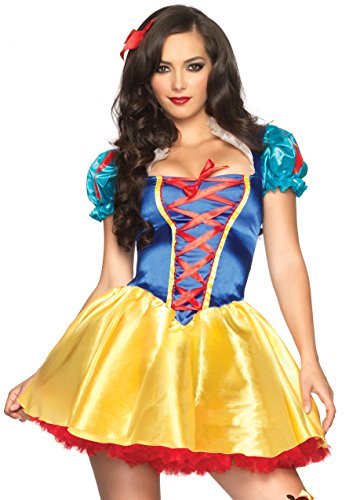 Leg Avenue Women's 2 Piece Fairytale Snow White Costume, Multi, ()