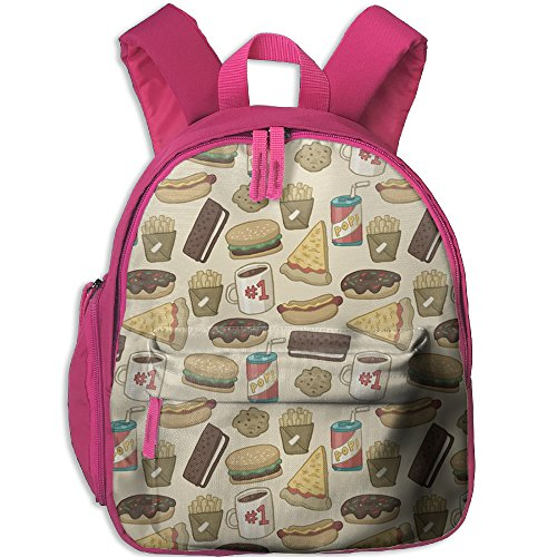 Pizza Burger Hotdog French Fries1 School Casual Daypack For Kids Fashion Printed Bags Student School - Running Sunglasses Review