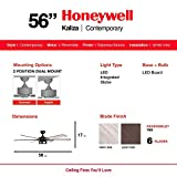 Honeywell 51036 Kaliza Modern Ceiling Fan with