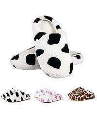Coral Fleece Lovers Slippers Cotton-padded Floor Slippers Women Men Indoor Shoes