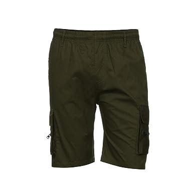 Pantalon Cargo Mi Long Slim Bermuda Shorts Été overdose Skinny Short Décontractée Casual Coton Trousers Élastique Homme Coupe Habillé OPk0wn8X