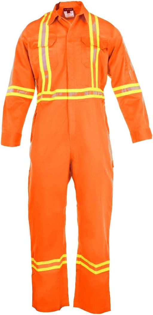 Flame Resistant FR High Visibility Hi Vis Shirt 88/% C//12/% N 3X-Large, Orange 7oz