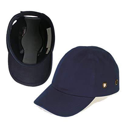 94c5d2f5546 Blue Baseball Bump Cap - Lightweight Safety hard hat head protection Cap by  Lucent Path - - Amazon.com
