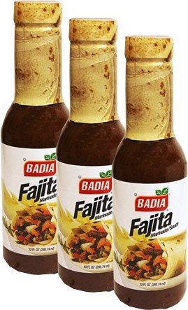 Badia Fajita Marinade Sauce 10 oz Pack of 3 (Sauce Badia)
