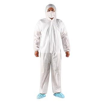 10 piezas conjunto sudaderas con capucha desechables vestido quirúrgico mujeres hombres vestidos de aislamiento