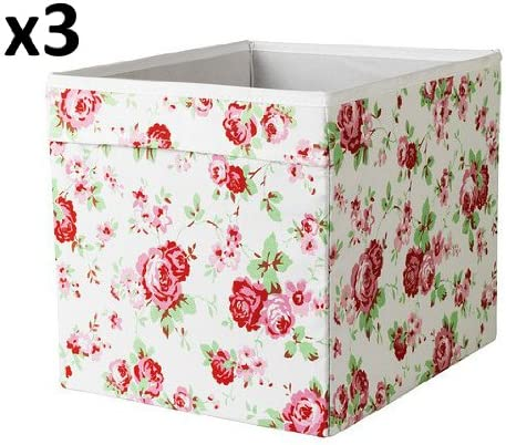 x3 Cath Kidston ROSALI caja de almacenaje para unidad expedit IKEA DRONA (conjunto de tres): Amazon.es: Bricolaje y herramientas