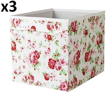 x3 Cath Kidston ROSALI caja de almacenaje para unidad expedit IKEA ...