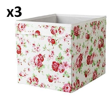 x3 Cath Kidston ROSALI caja de almacenaje para unidad expedit IKEA DRONA (conjunto de tres