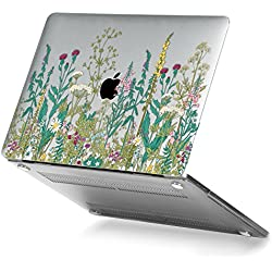 GMYLE Garden Flower Pattern Soft-Touch Crystal Plastic Hard Case Print for Apple New MacBook Pro 13 inch With/Without Touch Bar (Model: A1706/A1708) [2016,2017 Release]