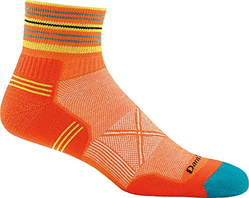(Darn Tough Coolmax Vertex 1/4 Ultra-Light Sock - Men's Orange X-Large)