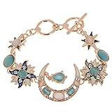 Imixlot Women's Lucky Dangling Earth Moon Sun Bracelet