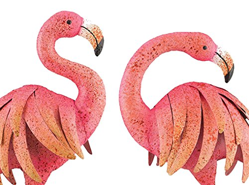 (Outdoor/Indoor Accent Metal Pink Flamingo 25