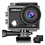 Campark ACT68 Action Camera WiFi 2.7K 12 MP Full HD 1080P Waterproof Underwater Cam with 170 Wide-Angle Lens and Rechargeable Battery,include 30M Waterproof Case and Portable Package