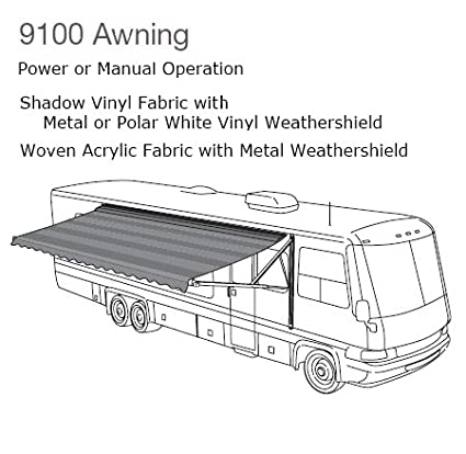 Amazon com: Dometic 915NT20 000B 9100 Power Patio Awning