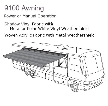 Amazon Dometic 915NS16000B 9100 Power Patio Awning Automotive