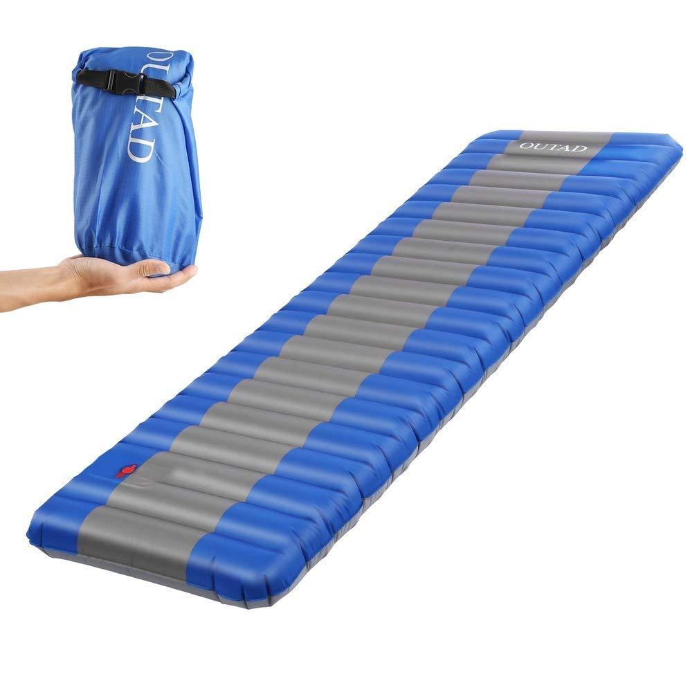 OUTAD Colchón de Aire Cama, Colchones Inflables Cama al Aire Libre para Cámping Portátil Ultraligero con Solo Grosor 12 cm para ...
