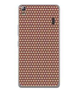 FUSON Designer Back Case Cover for Lenovo K3 Note :: Lenovo A7000 Turbo (Seamless Pattern Blue Design Drawing )