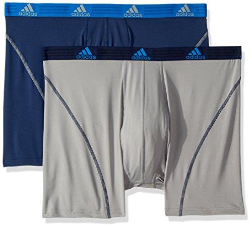 adidas Men's Sport Performance Big & Tall Boxer Briefs Underwear (2-Pack), NIGHT INDIGO/LIGHT ONIX LIGHT ONIX/NIGHT INDIGO, 3XL
