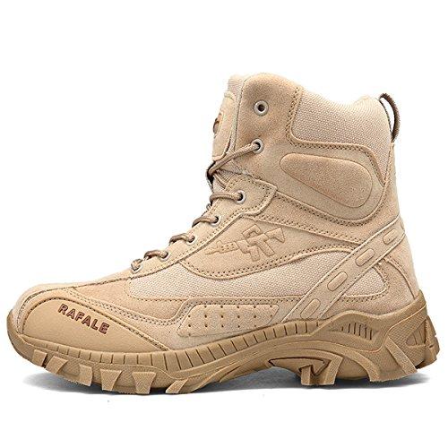 Hommes Militaire Haute Militaire Bottes À Lacets Durable Armée De Combat Chaussures Respirant Tactique Désert Randonnée… 2