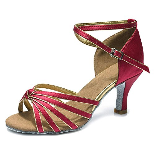 Della Tango E Del Red Gold Scarpe Salsa 7cm Latino Da Ballo Sala Yff Ragazze Donne Dark 5cm H7wqYx8f